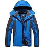Rivestimento Unisex Giacca da Uomo Donna Plus Velluto Spessore Giacca Di Taglia Grande Impermeabile Abiti Invernali Estivi Cotone Abbigliamento Alto Team Abbigliamento ( Color : Blue , Size : 5XL )