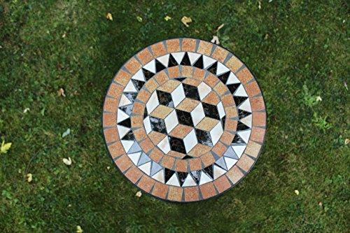 Kingfisher schwarz Mosaik-Effekt Beistelltisch Outdoor Garten Patio-Möbel Set - 2