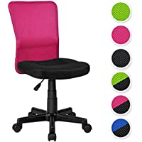 TecTake Bürostuhl Drehstuhl Schreibtischstuhl Schwarz-Pink