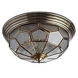 Deckenleuchte Deckenlampe Messing mattes Glas Tiffany Landhausstil Ø46cm 6-flammig exkl. E14 6x40W 230V