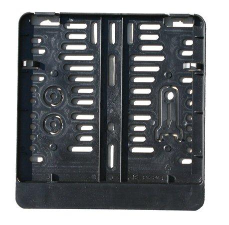 Kennzeichenhalter - Kennzeichenverstärker - Kennzeichenbefestigung aus Kunststoff für Motorrad, 220 x 200 mm, schwarz