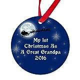 qidushop Dekofigur 1. Weihnachtsmann als Großvater 2016, Keramik, Geschenk für Mann und Frau, 2018