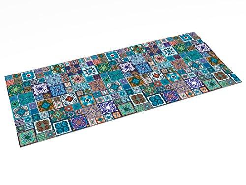 Alfombra Vinílica diseño Hidráulico, Multicolor, 150 x 65 cm