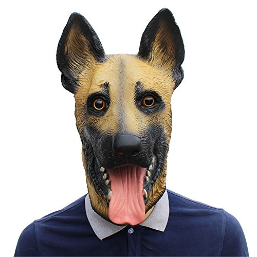 ZHENYANG Halloween Party Liefert Prom Party Bar Cosplay Wolf Hund Latex Maske Kostüm Requisiten Streich (Wolf Kostüm Streich)