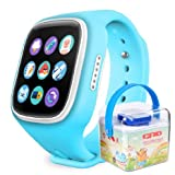 GBD-2016 Newest 1.44inch Touch Screen GPS Tracker Kids Smartwatch Wrist Sim Watch Phone Anti-lost SOS Gprs Children Bracelet Parent Control By Apple Iphone IOS Android Smartphone Blue Blue