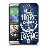 Head Case Designs Die Hoffnung Steigt Anker Ruckseite Hülle für HTC One M8 / M8 Dual Sim