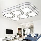 ETiME 45W Design LED Deckenlampe Kaltweiss Deckenleuchte 64x43CM Wohnzimmer Lampe Schlafzimmer Küche Leuchte 6000K Weiß Rechteck (64x43CM 45W Kaltweiß)