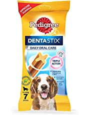 Pedigree Dentastix Medium Breed (10-25 kg) Oral Care Valentines Gift Dog Treat, 180g Weekly Pack (7 Chew Sticks)