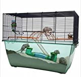 Innovative Practical Cage For Hamsters, Mice And Gerbils - With Extra Tall Plexiglas Basin, Accessories Included - Offers Your Pet Pure Bundles Of Joy