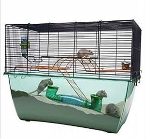 innovativer praktischer k fig f r hamster m use und rennm use mit extra gro er plexiglas. Black Bedroom Furniture Sets. Home Design Ideas
