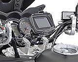 Lenker GPS Navi Halter für Motorrad Lenker d. 32 mm in silber