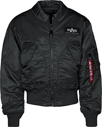Alpha Industries Herren Jacke CWU 45, Black, XS