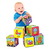 Six foam-filled fabric cubes with colourful pictures of familiar objects are ideal for early vocabulary. It is designed to encourage hand and eye coordination and manipulative skills. One block also contains a bell. Progress to picture matchi...