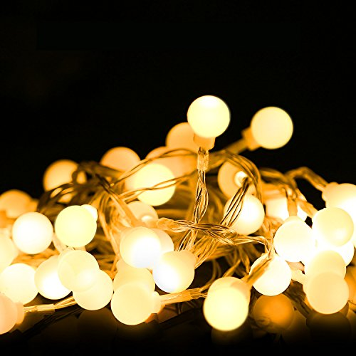 tte , 5m/16ft 40 LED Wasserdicht Bälle String Licht, 2 Beleuchtung Modi, Batteriebetriebenes Feenlicht für Halloween Weihnachten Hochzeiten Geburtstag Familie Schulparties Dekor, Warm Weiß (In Der Halloween-nacht Vor Weihnachten)