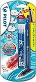 Pilot Frixion Clicker Erasable Retractable Rollerball 0.7 mm Tip Pen with Three Refills - Blue, Single Pen