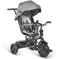 besrey 7 en 1 Tricycle Poussette Vélo Evolutif Multifonctionnel pour Enfants avec Roues Silencieuses et la Tige-Poussoir Directionnelle - 6 Mois à 6 Ans