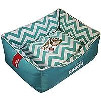 QJKai Moda mascota nido almohadilla perrera lienzo cuadrado nido gato arena para mascotas suministros