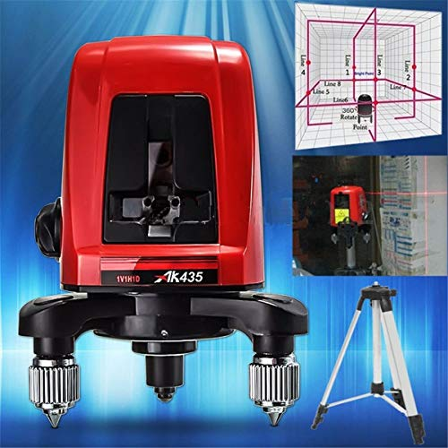 Greetuny 1Pc AK435 360 Degree Self-leveling Cross Laser Level 2 Line 1 Point With Package -