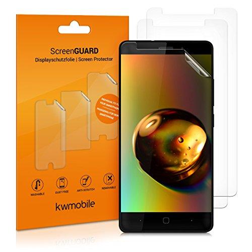 kwmobile 3X Folie für Vernee Thor E - klare Bildschirmschutzfolie Bildschirmschutz Crystal Clear kristallklar Bildschirmfolie Schutzfolie