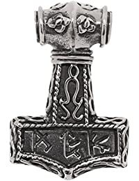 Stainless Steel Thors Hammer Chain Pendant (25 mm X 40 mm) for Ladies and Gentlemen