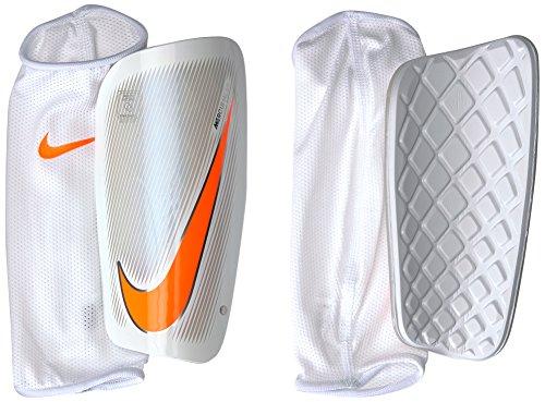 Nike Herren Mercurial Lite Schienbeinschoner, White/Total Orange, Gr. M