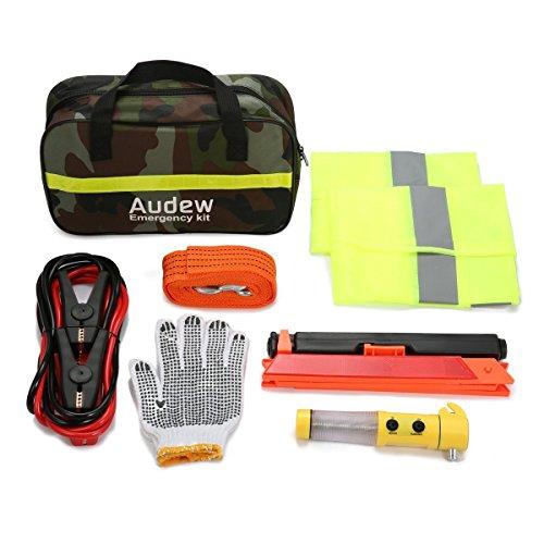 Audew Auto Pannenhilfe Set Auto Pannenset Pannenwerkzeugset Auto Sicherheit Kit Notfall Kit