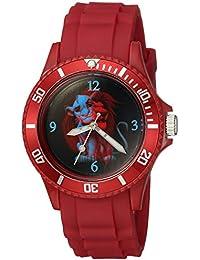 Disney Men's 'Lion King' Quartz Plastic Casual Watch, Color:Red (Model: WDS000359)