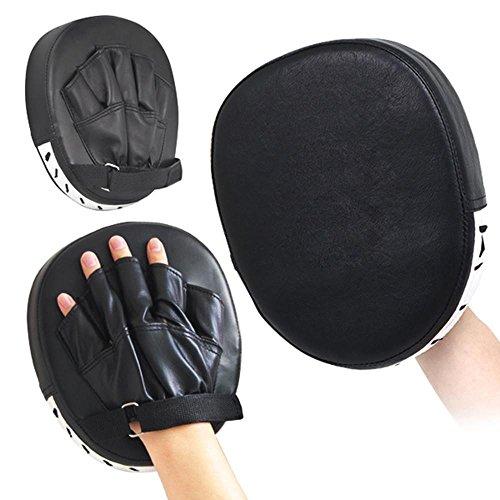 Yaheetech 1 Paar Handpratzen Boxen Pads Schlagpolster Handschlagpolster Boxtraining Kickboxen schwarz