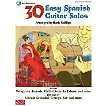30 Easy Spanish Guitar Solos Bk/online audio by Mark Phillips (2008-09-01)