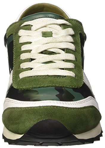 Trussardi Jeans 79s107xx51, Pompes à Plateforme Plate Femme Multicolore (Military)
