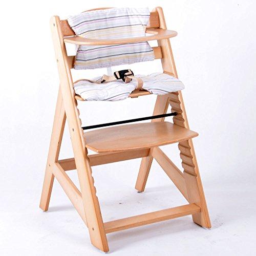 chaise haute en bois ajustable chaise bébé escalier chaise haute ... - Location Chaise Haute Bebe
