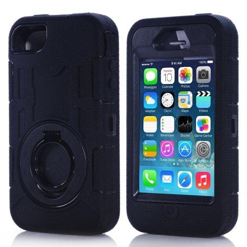 Survivor Military Style Silicon Case custodia per iPhone 4/4S nero