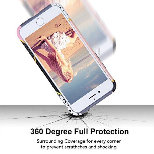 iPhone 6 6s hülle, Imikoko iPhone 6 Hülle Dual Layer Case Cover Hybrid Schild TPU + PC Hard Case Cover für iPhone 6s / 6 (4.7, Grau Fuchsia) Grau Fuchsia