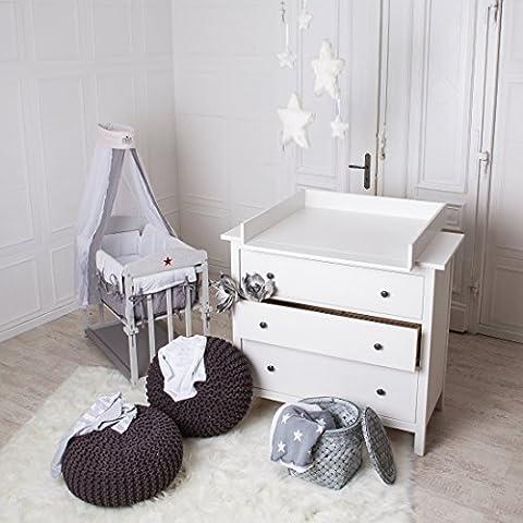 ¡Bordes redondeados! Cambiador superior (blanco) adecuado para todas las cómodas Hemnes de IKEA