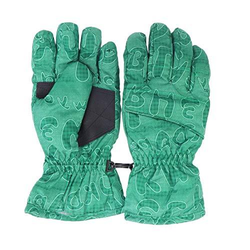 BESPORTBLE 1pair Winter warme Handschuhe Ski-Schnee-Handschuhe Winddicht Fingerhandschuhe für Teenager Jungen Mädchen Kinder (grün) Sport