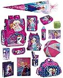 Disney die Eiskönigin Schulranzen-Set 25tlg. Sporttasche Regenschutz Schultüte 85cm Frozen rosa pink lila