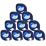 10× 91201 91221 S0721610 Imprimante d'étiquetage plastique Dymo LetraTag compatible avec Bande adhésive Dymo LT-100H LT-100T QX50 2000 XR XM Plus, impression noire sur fond blanc 12 mm x 4 m