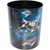 alles-meine.de GmbH Papierkorb / Behälter -  Weltraum - Space - Raumschiff  - aus Kunststoff - Mülleimer / Eimer - Aufbewahrungsbox für Kinder - Jungen - Abfalleimer - Rakete A..