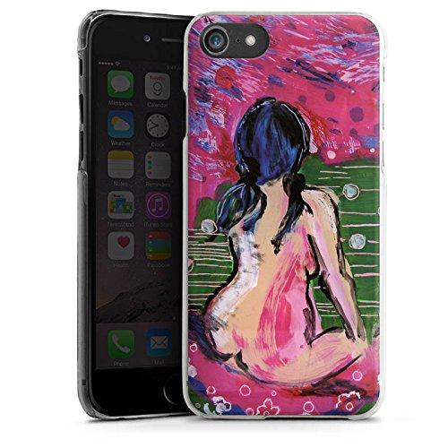 Apple iPhone X Silikon Hülle Case Schutzhülle Frauen Kunst Frau Hard Case transparent