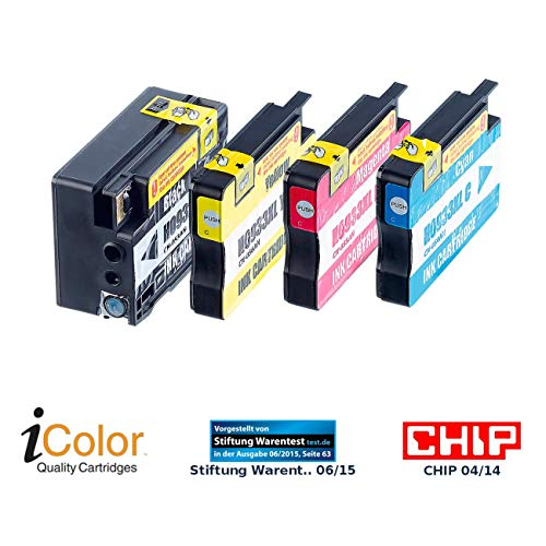 iColor Multipack kompatible Druckerpatronen für Tintenstrahldrucker, HP: ColorPack für HP (ersetzt No.933XL BK/C/M/Y) (Tintenpatronen)