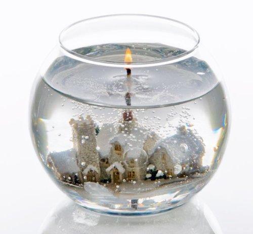 Stoneglow Gel-Kerze in Fischglas, Winter-Wunderland, ohne Duft, glas, weiß, No - don't gift wrap it