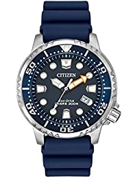 f2960c8345a Citizen Men s Divers Eco Drive Watch with Blue Dial Analogue Display and  Blue PU Strap BN0151