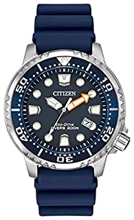Citizen Men's Divers Eco Drive Watch with Blue Dial Analogue Display and Blue PU Strap BN0151-09L (B00STFMNNU) | Amazon Products