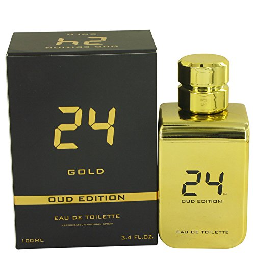 ScentStory 24 Gold Oud Edition by ScentStory Eau De Toilette Concentree Spray 3.4 oz