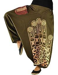 virblatt Haremshose für Frauen und Männer mit hochwertigem Druck Einheitsgröße S-L Aladinhosen und GOA Hose in alternative Kleidung von virblatt – Entspannt