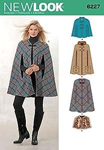 New Look NL6227 Patron de Couture Cape 22 x 15 cm