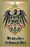 Blechschild Nostalgieschild Deutsches Schutzgebiet Adler Wappen retro Schild Wappenschild