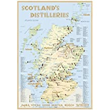 Whisky Distilleries Scotland - Tasting Map 24x34cm: The scottish Whiskylandscape in Overview