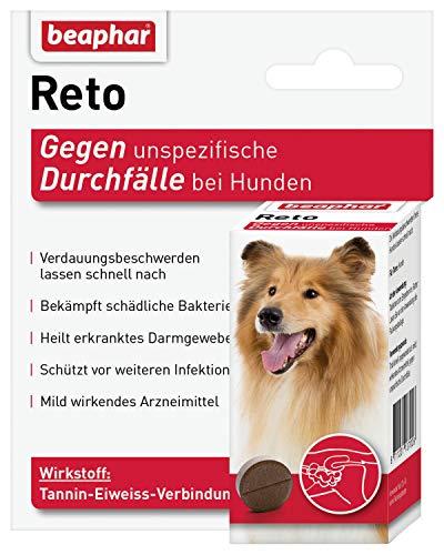 beaphar Reto Durchfalltabletten, zur Behandlung von Durchfall und Verdauungsbeschwerden bei Hunden, 30 Tabletten -