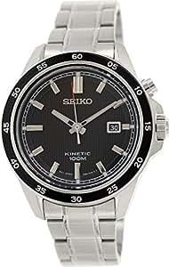 Seiko - SKA641P1 - Montre Homme - Automatique Analogique - Cadran Noir - Bracelet Acier Gris